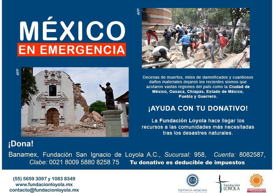 "México en emergencia; ""es momento de ayudar"""